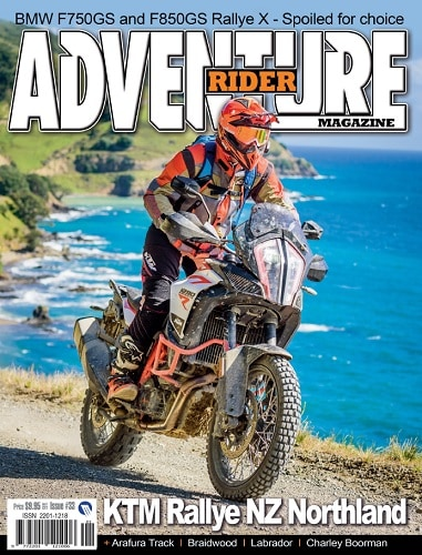 Adventure Rider Magazine Cover containing article of adventure motorcycle packing list
